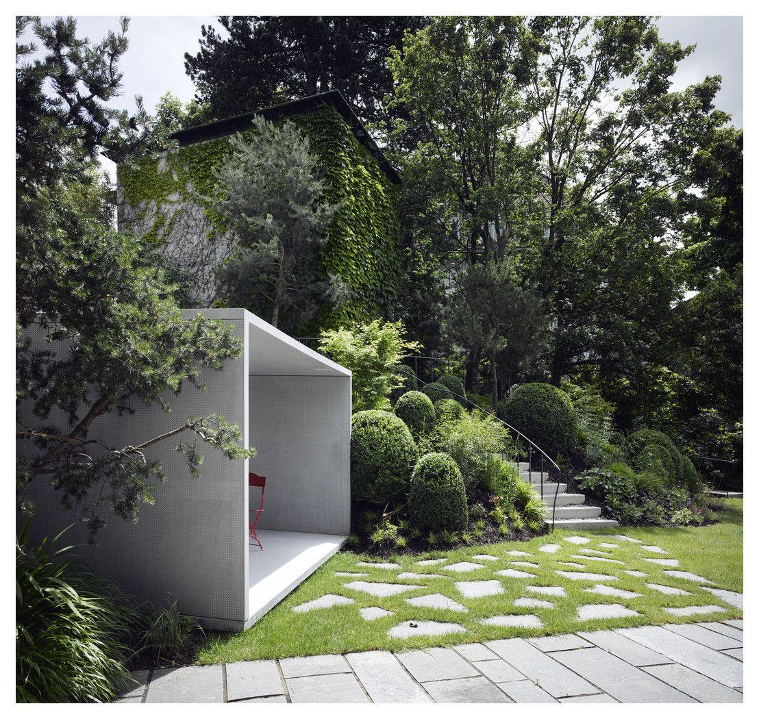 raucher-pavillon aus lichtdurchlässigem beton | beton architektur, Hause und garten