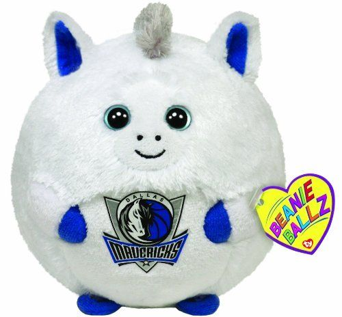 Ty Beanie Ballz Dallas Mavericks - NBA Ballz by Ty Beanie Ballz. $5.89. Handmade with the finest quality standards in the industry. Collect Them All. Look for the familiar heart-shaped tag that means you?ve purchased an authentic Ty product. High quality for a low price. Ty from our heart to yours. From the Manufacturer                Beanie Ballz are a little wild and whacky, toss 'em and they always land on their feet. Ty's Sports Beanie Ballz are the best, collect them all...