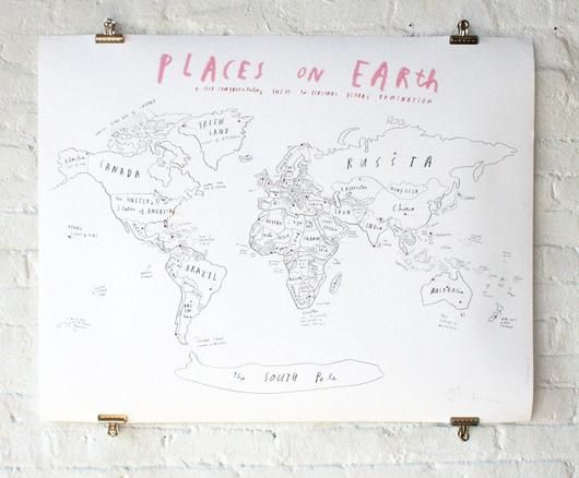 world map with pins oliver jeffers stuff wall decor pinterest