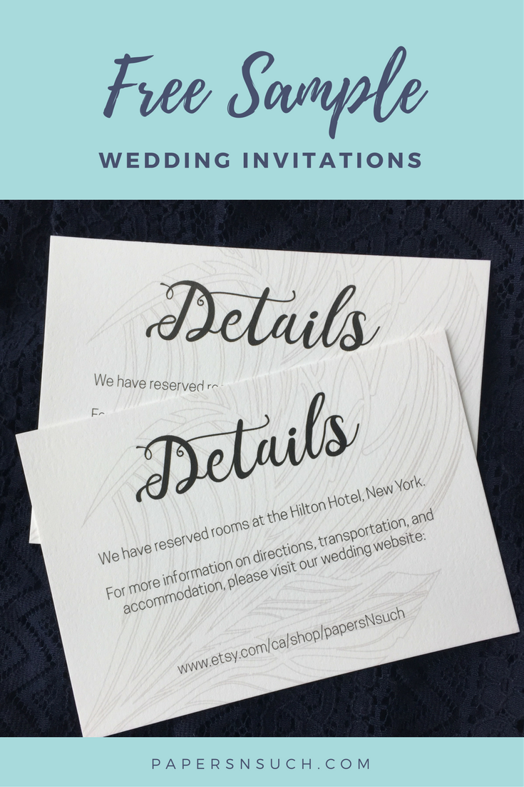 Modern and chic with this black and white wedding invitation ...