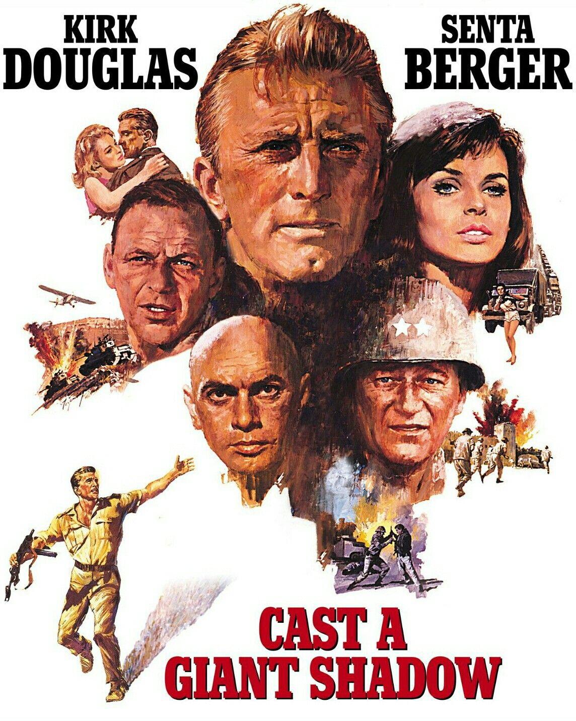 Cast A Giant Shadow 1966 Starring Kirk Douglas Senta Berger Stathis Giallelis James Donald Yul Brynner Fr Cine Bélico Películas Completas Gratis Cine