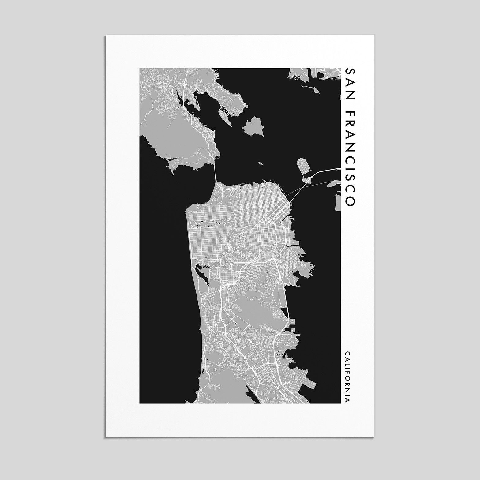 San Francisco Map Store%0A San Francisco  California   City Map Print  Style