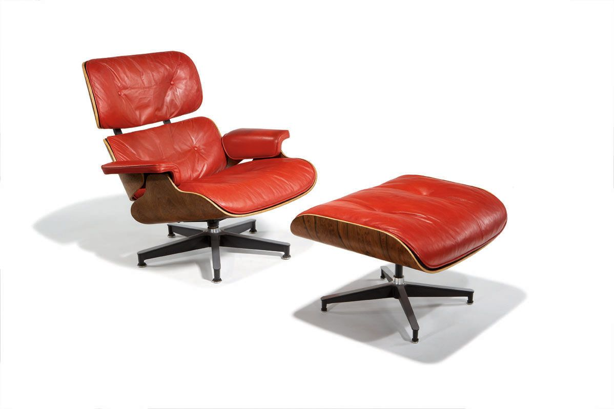 Charles Ray Eames Lounge Chair And Ottoman Herman Miller Designed 1956