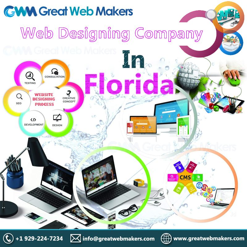 Greatwebmakers Com A Reliable Web Designing Company In Florida Provides Web Designing Serv Website Design Personal Website Design Website Design Company