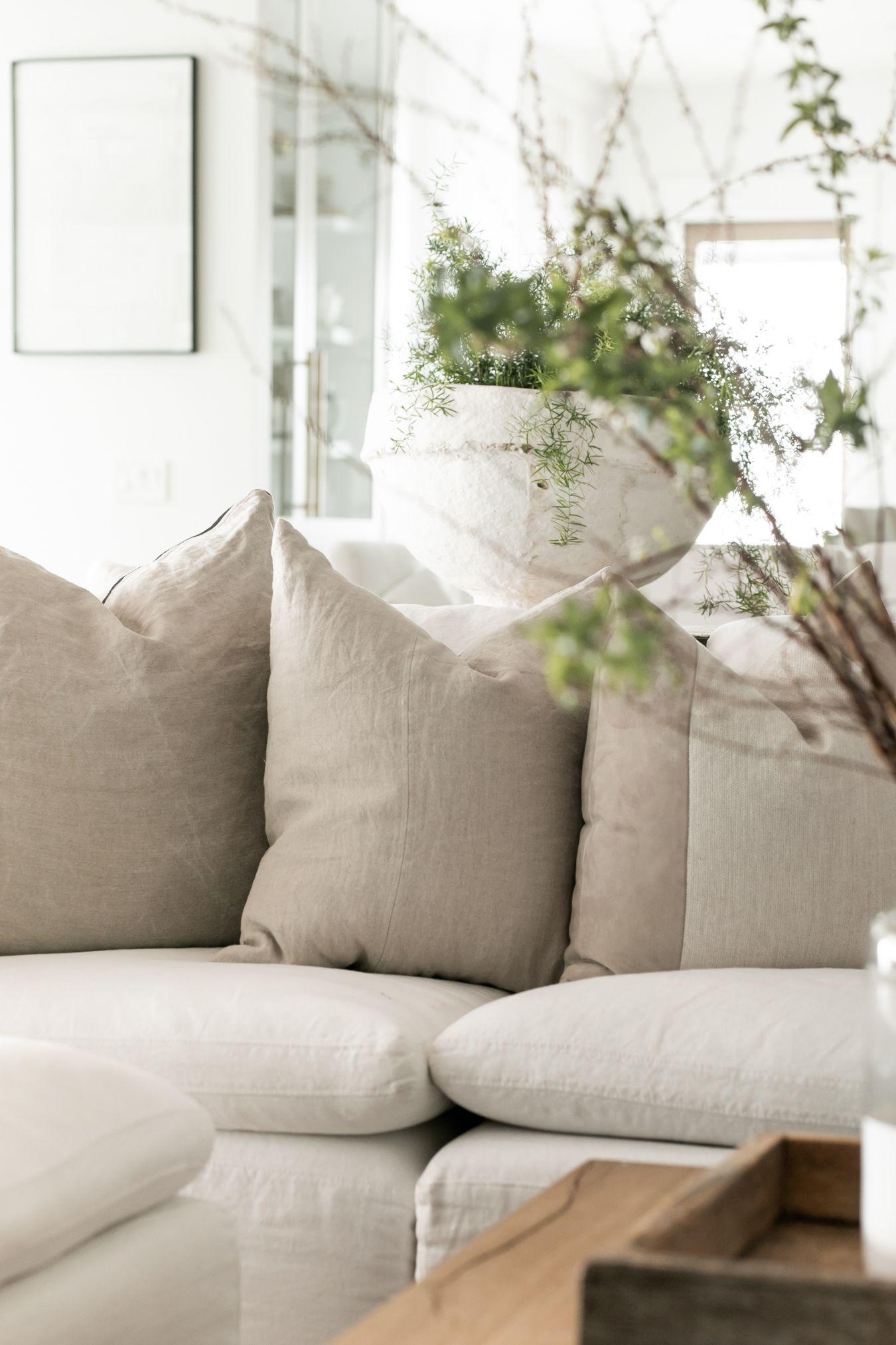 Linen Pillow Natural in 2020 Modern farmhouse living