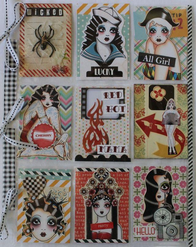 PL using Geko Galz collage sheets by Nancy Smith