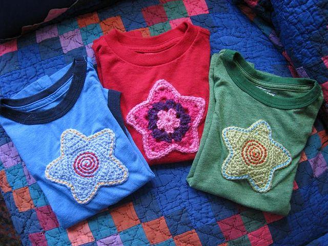 1 Owl Motif Handmade Crocheted for your DIY T-shirt