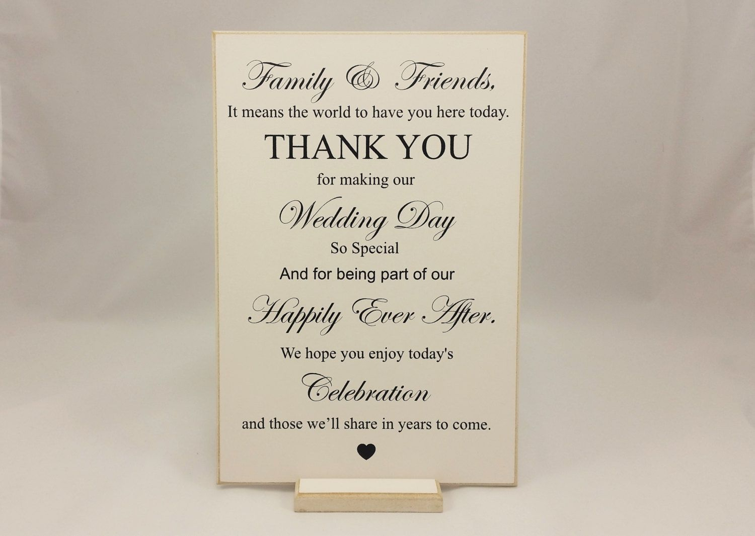 Wedding Decor Signs Amazing Wedding Sign Thank You Family And Friends Bride And Groom 2018