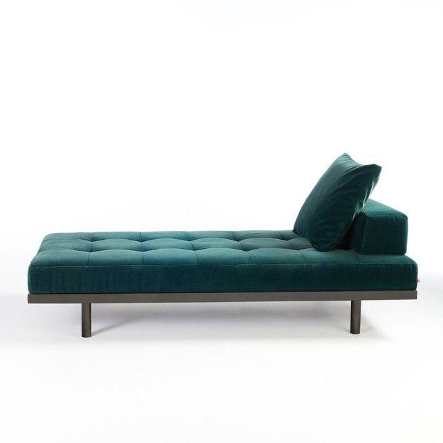Canapé de repos velours, Heraclite Salons and Bench