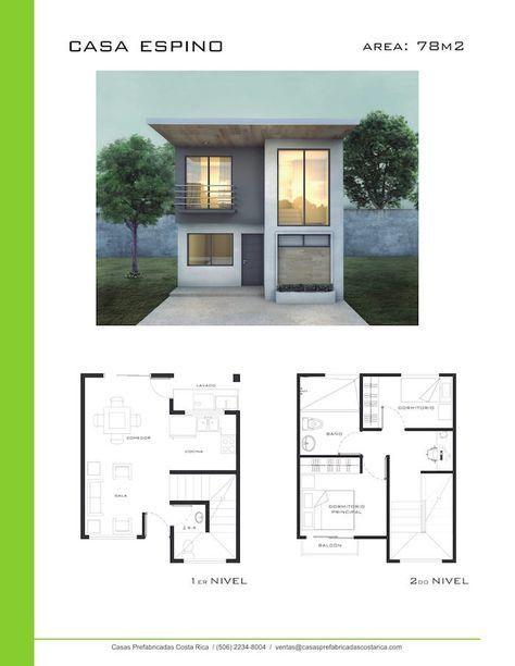 Modelos de casas de dos pisos casas prefabricadas costa for Casas minimalistas baratas