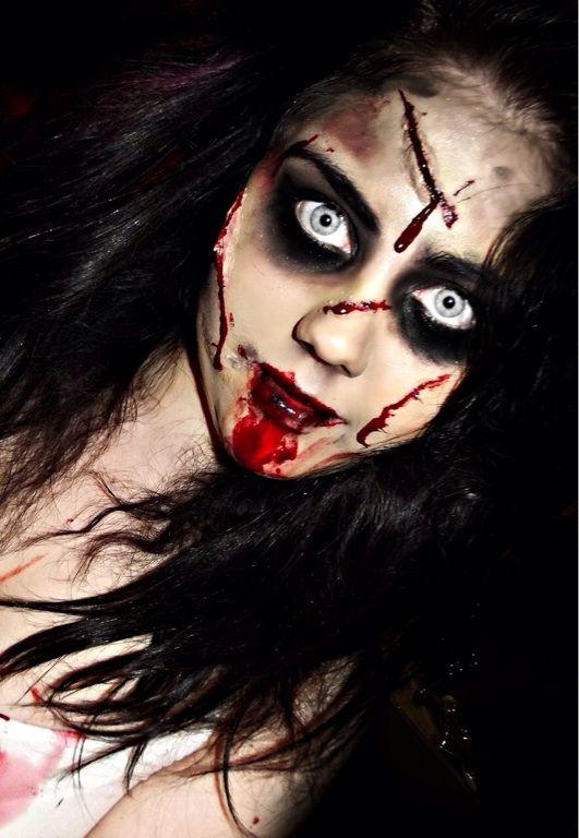 Halloween Zombie Schmink.Face Paint Halloween Zombie Look Carnaval Halloween