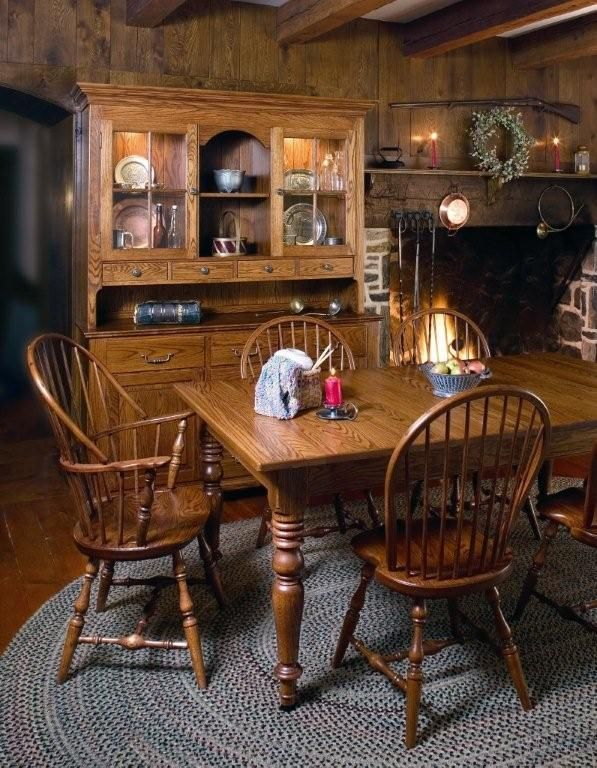 Amish Early American Classic Windsor Dining Room Chair Early American Furniture Cottage Dining Rooms Classic Furniture