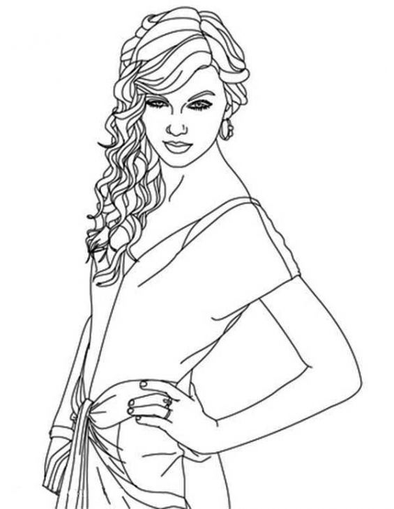 Beau Beautiful Taylor Swift Coloring Page