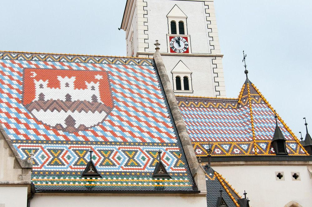 The Roof Of St Mark S Church In Zagreb Croatia Croatia Travel Croatia Croatia Travel Guide