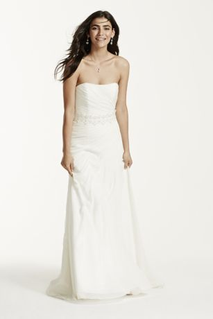 e8c98e668b44 ... strapless crinkle chiffon · crinkle chiffon wedding dress with d davids  bridal ...