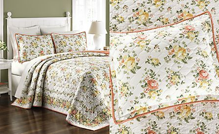 CLOSEOUT! Martha Stewart Collection Rose Cottage Bedspreads, Only ... : rose cottage quilt shop - Adamdwight.com