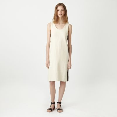 ffaa6533a3 linen dress with side panels