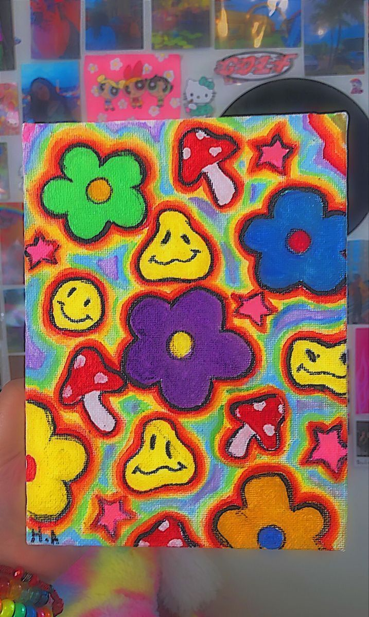 Pin by Fafe😁💐 on Craffs in 2020 | Hippie painting, Small ...