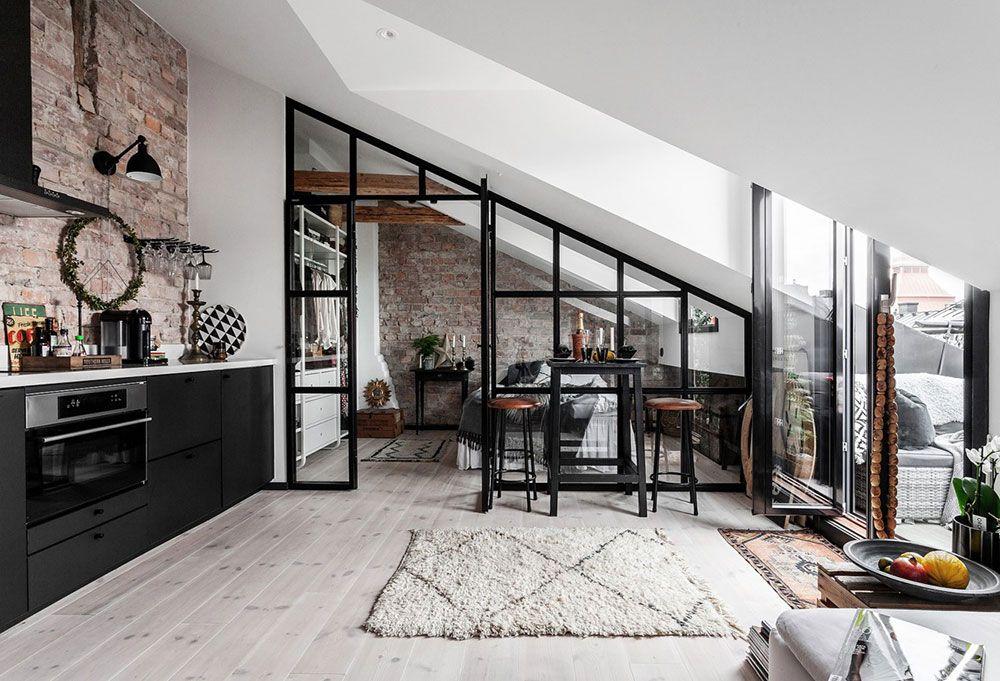 Un parfait studio sous les toits plein de personnalité - PLANETE DECO a homes world