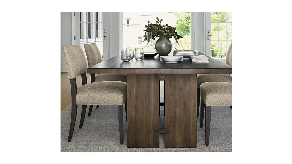 Monarch Shiitake Dining Tables Crate And Barrel Upholstered