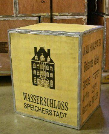 Original Teekiste Holz Kiste Nachttisch Tisch Dekoration Loft Mbel Aus Bersee Balanda Valley Windsor