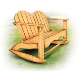 Groovy Adirondack Rocking Chair For Two Timber Mart This Two Seat Creativecarmelina Interior Chair Design Creativecarmelinacom