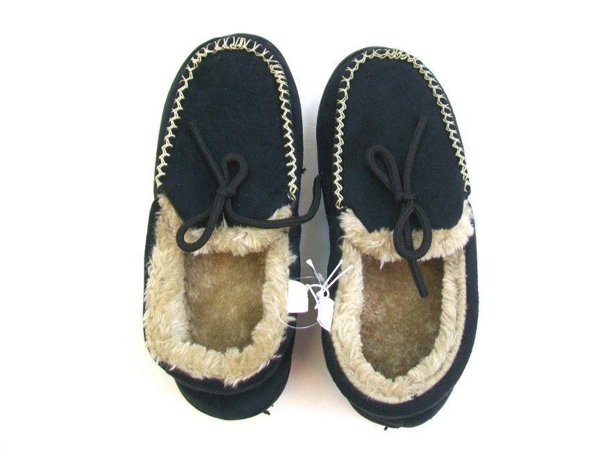 NWOT Women's Black Slipper Bedroom Shoes Size S (7-8)