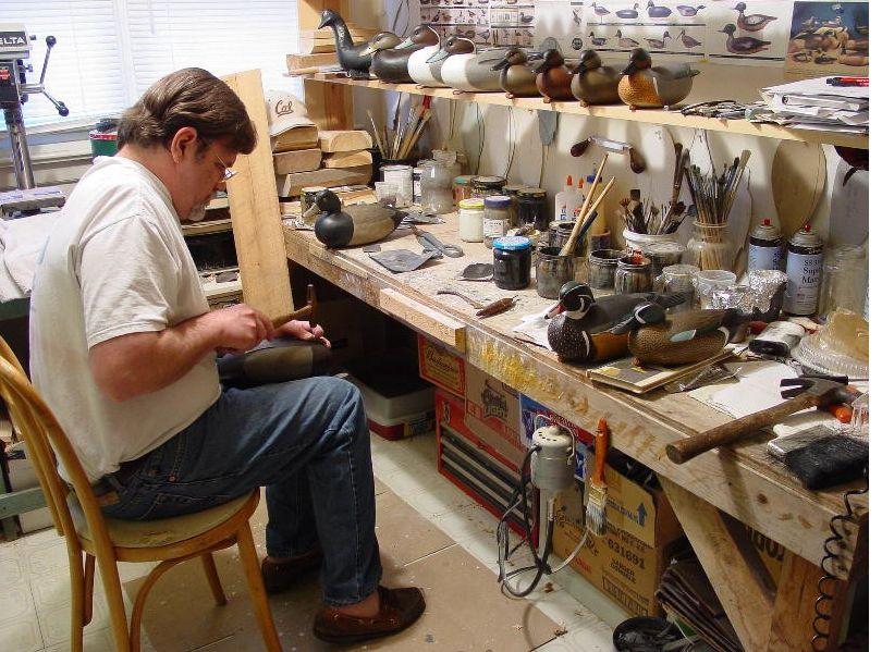 Image result for decoy carvers shop decoy carving wood