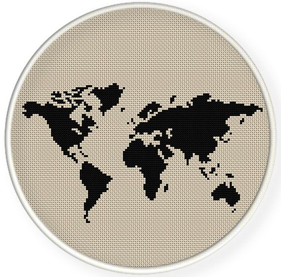 Instant downloadfree shippingcounted cross stitch pdfworld map 2 instant downloadfree shippingcounted cross stitch pdfworld map 2 patterns 1 gumiabroncs Gallery