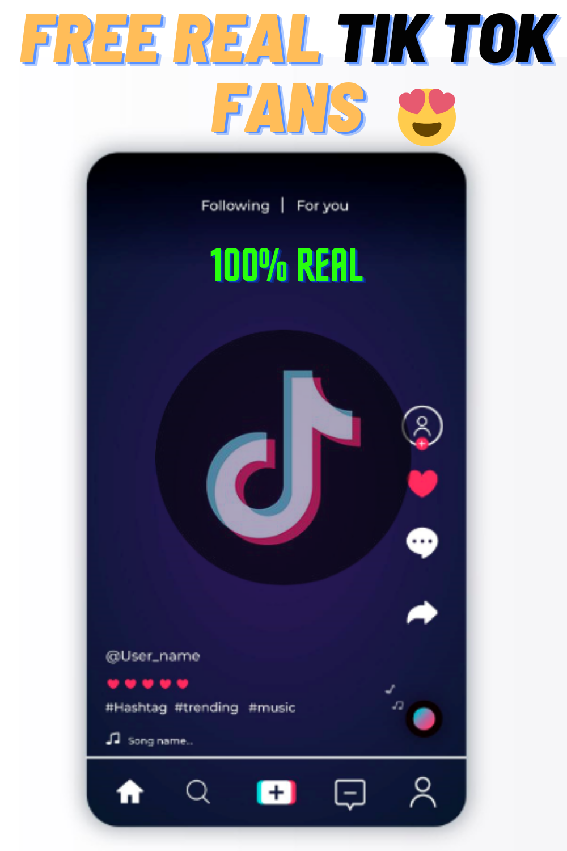 Free Tiktok Real Followers Generator 100 Working How To Get Followers Heart App Free Followers