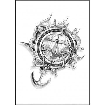 tatouage ancre et gouvernail tatouage symbole pinterest tatouage ancre tatouages et. Black Bedroom Furniture Sets. Home Design Ideas