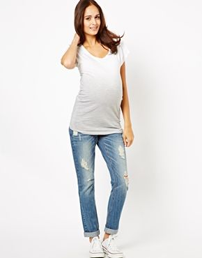 New Look Maternity Boyfriend Jean With Trim | Trims, Look. and ...