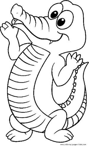 Crocodile Color Page Animal Coloring Pages Color Plate Coloring
