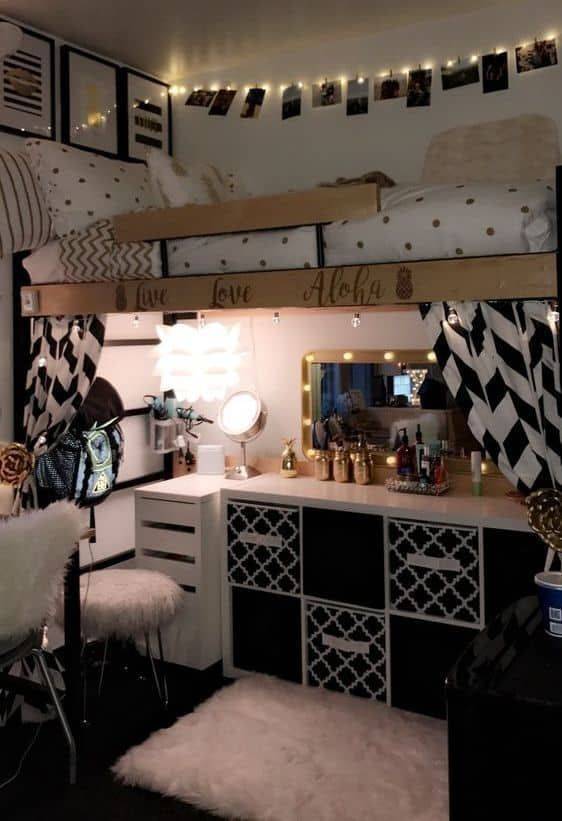 Black And White Dorm Room Color Scheme Cool Dorm Rooms Dorm Room Color Schemes College Dorm Room Decor