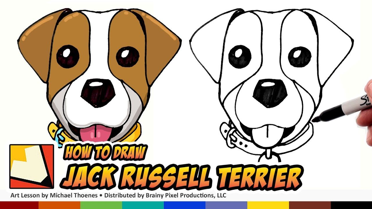 How To Draw A Dog Jack Russell Terrier Emoji How To Draw Cute