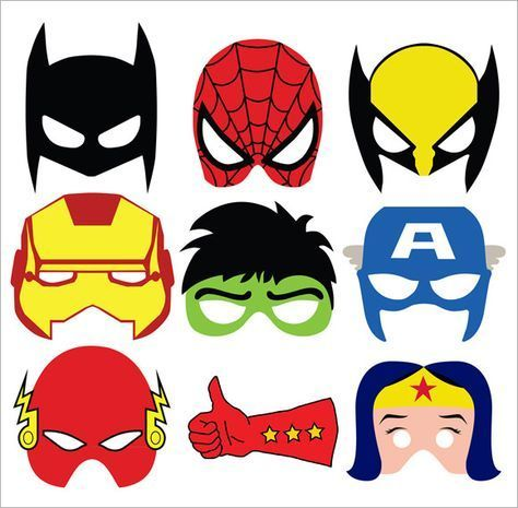 Superhero Mask Template Printable  Jean Th Bday