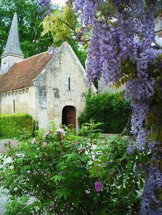 Church & wisteria