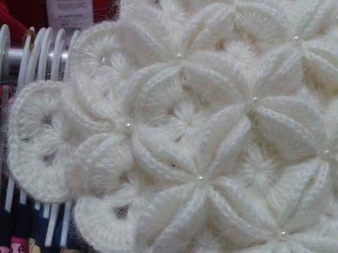 Cuadro a crochet   1 en punto popcorn paso a paso para colchitas ... 0d16cfb9fb6