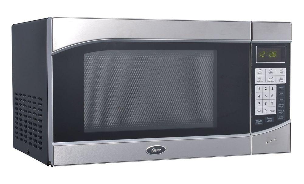 Microwave Oven Digital 900 Watt Countertop Stainless Steel Black
