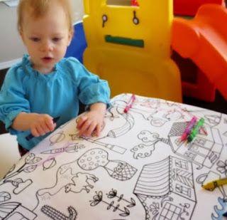 Theelegantartist Diy Coloring Book Fabric Tablecloth Tablecloth Fabric Diy Coloring Books Coloring Books