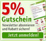 5% Rabatt for nyhedsbreve - tyske zooplus
