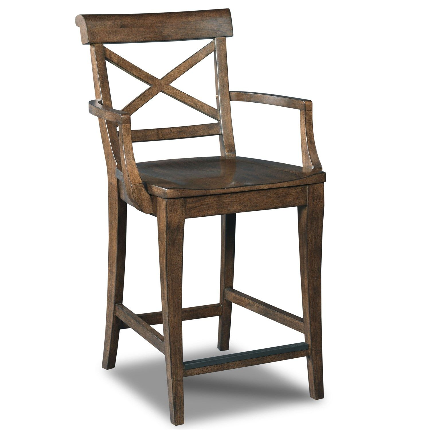 Hooker furniture decorator rob roy xback counter stool in