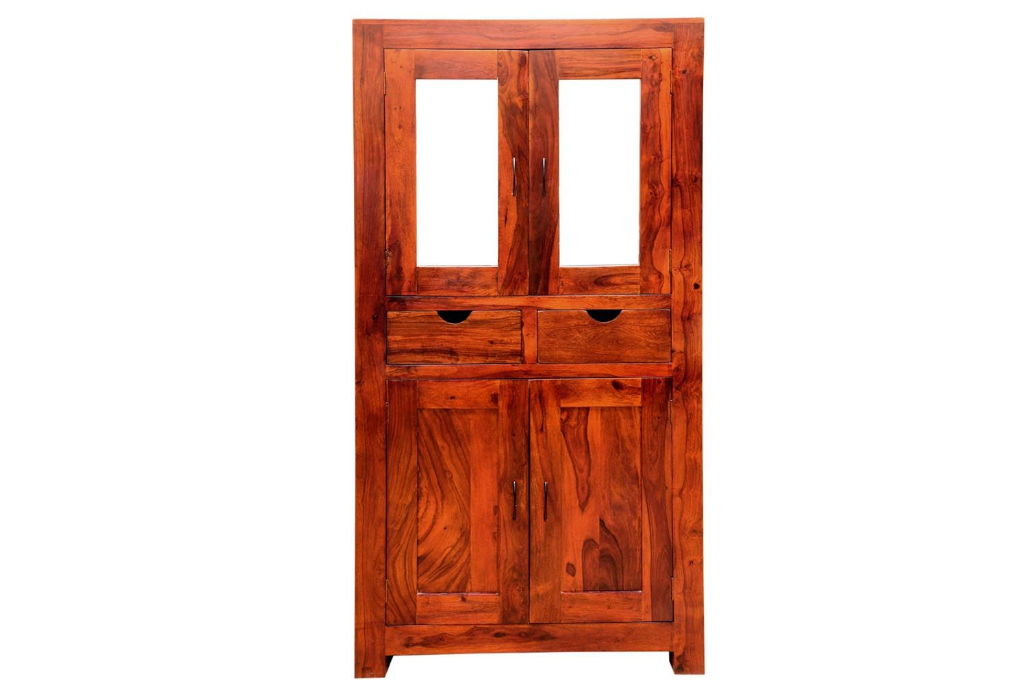 Celestial Four Door And Two Drawer Teakfinish Almirah Is Made By Sheesham Wood With Light Teak