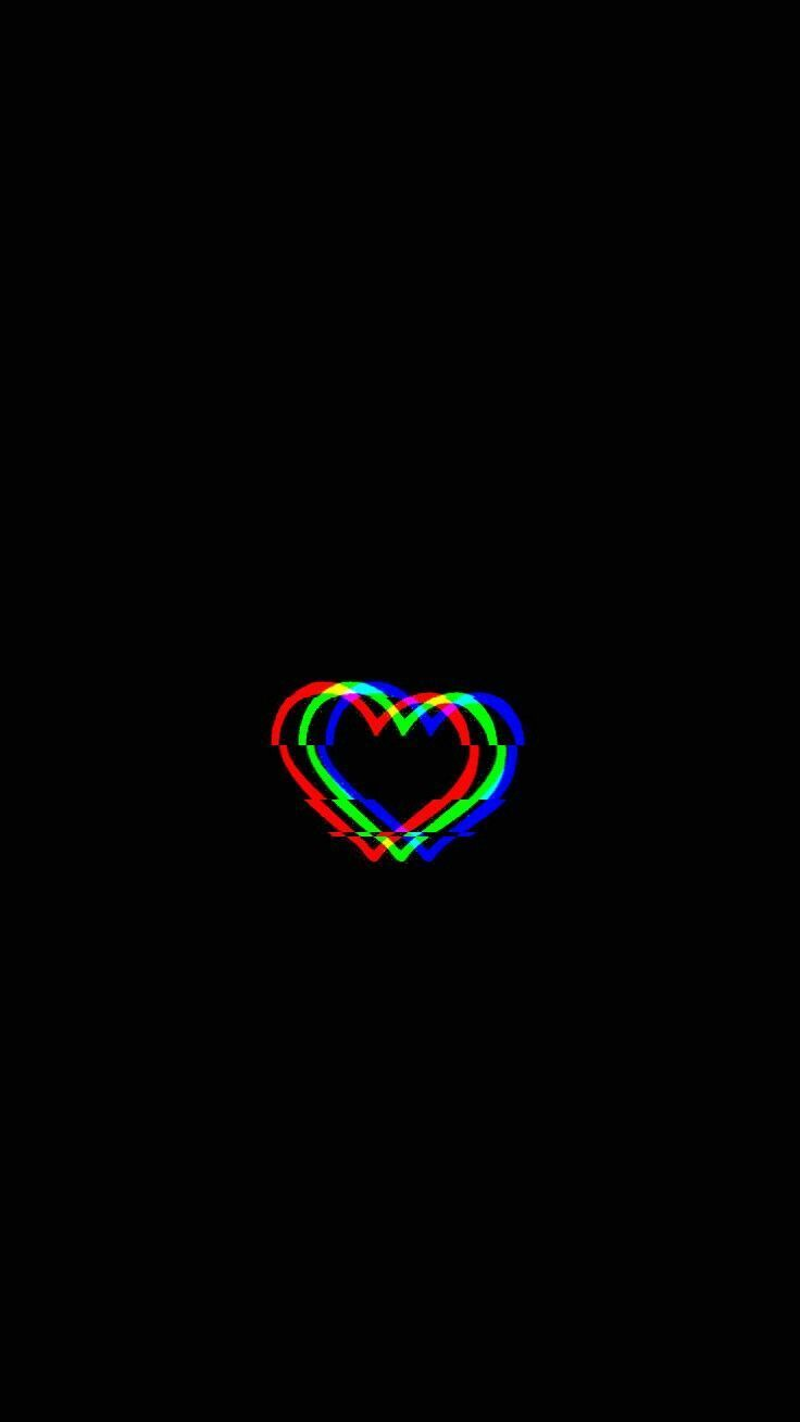Glitched Heart Glitched Heart Planodefundo Blackwallpaperiphone Glitched Heart Glitched Heart Glitch Wallpaper Black Phone Wallpaper Trippy Wallpaper