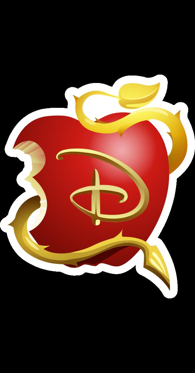 Descendants Apple Logo Apple Logo Sticker Apple Logo Cruella De Vil