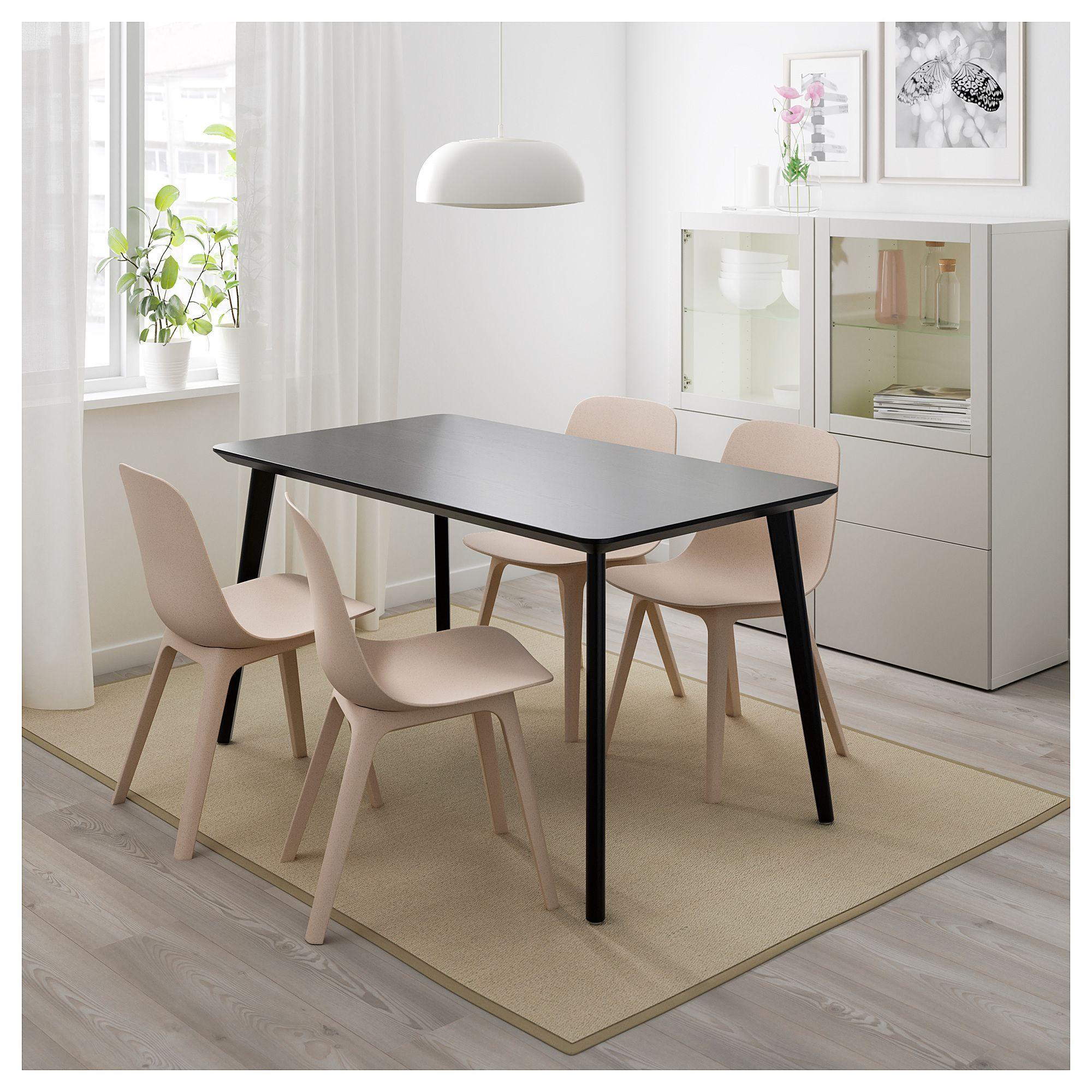 NORDVIKENLEIFARNE Bord och 2 stolar, svart, Broringe svart