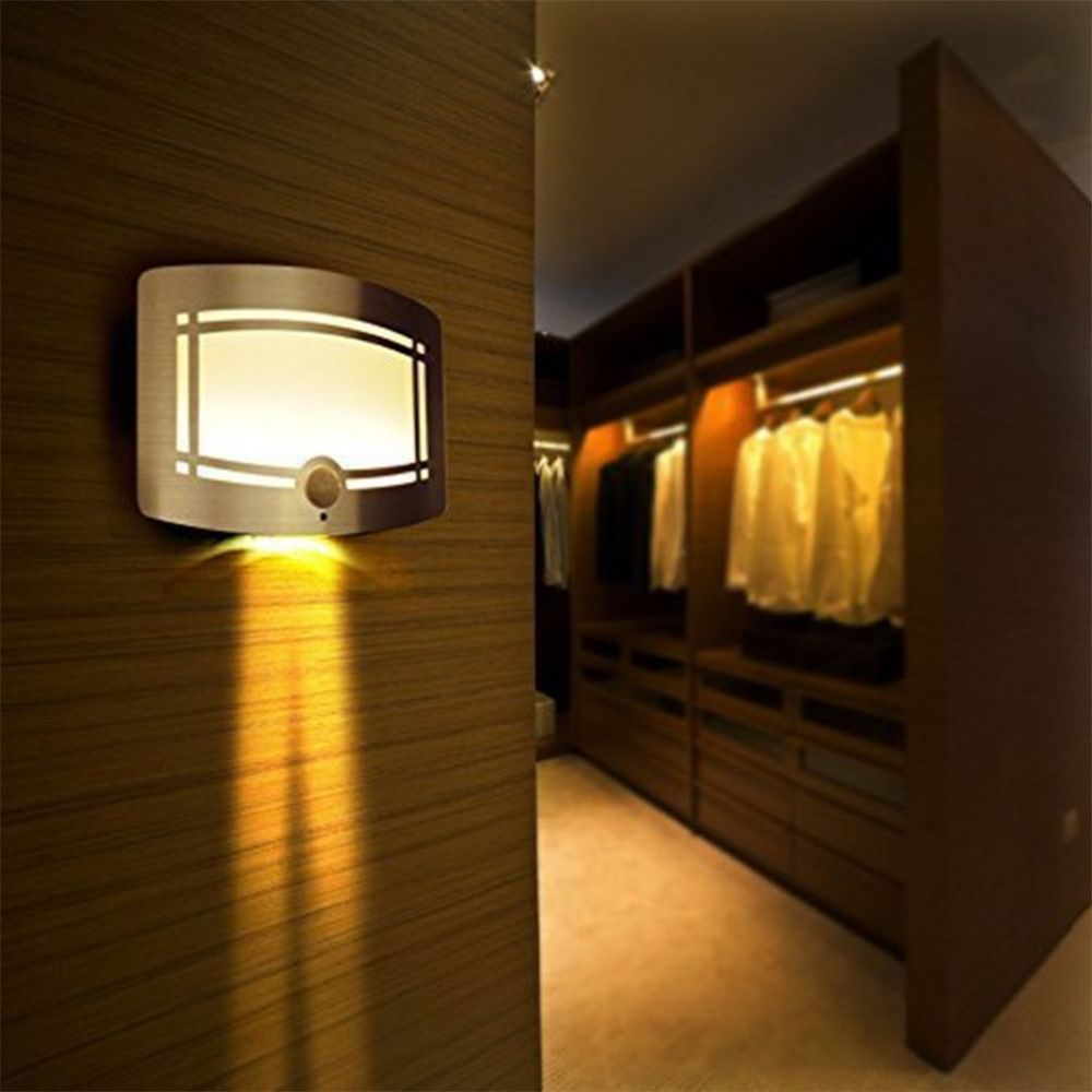 Stylish 6 Wide By 4 High Motion Sensor Wall Light Bright Led And Housing Design Perfect For Battery Operated Wall Sconce Wireless Wall Sconce Wall Lights