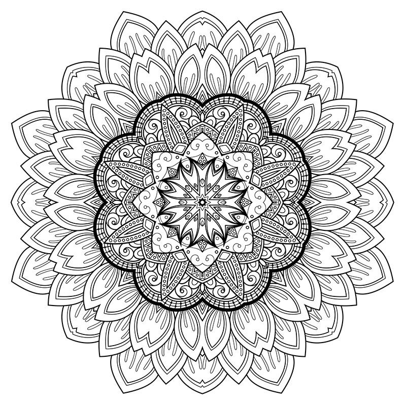 Free Downloadable Coloring Art Therapy For Relaxation Mandala