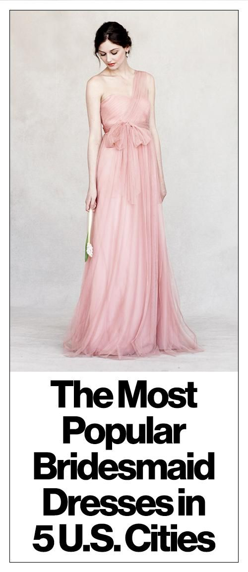 The Most Popular Bridesmaid Dresses in the U.S.?and One Style ...