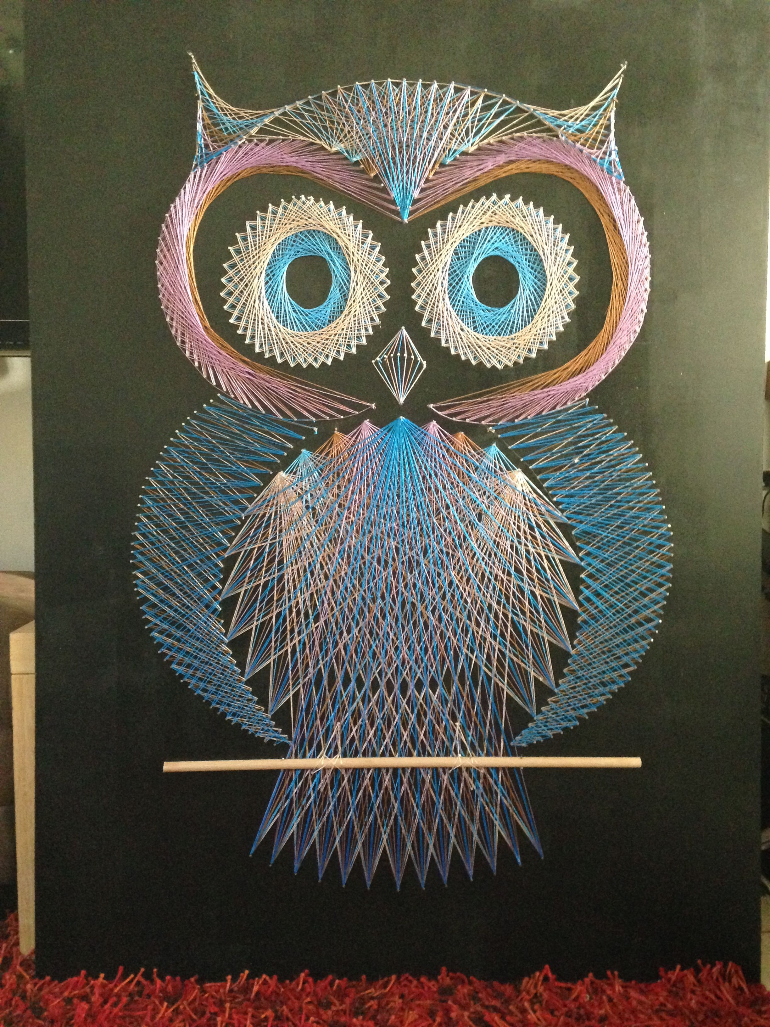 photo 4 string art pinterest string art string art patterns and owl. Black Bedroom Furniture Sets. Home Design Ideas